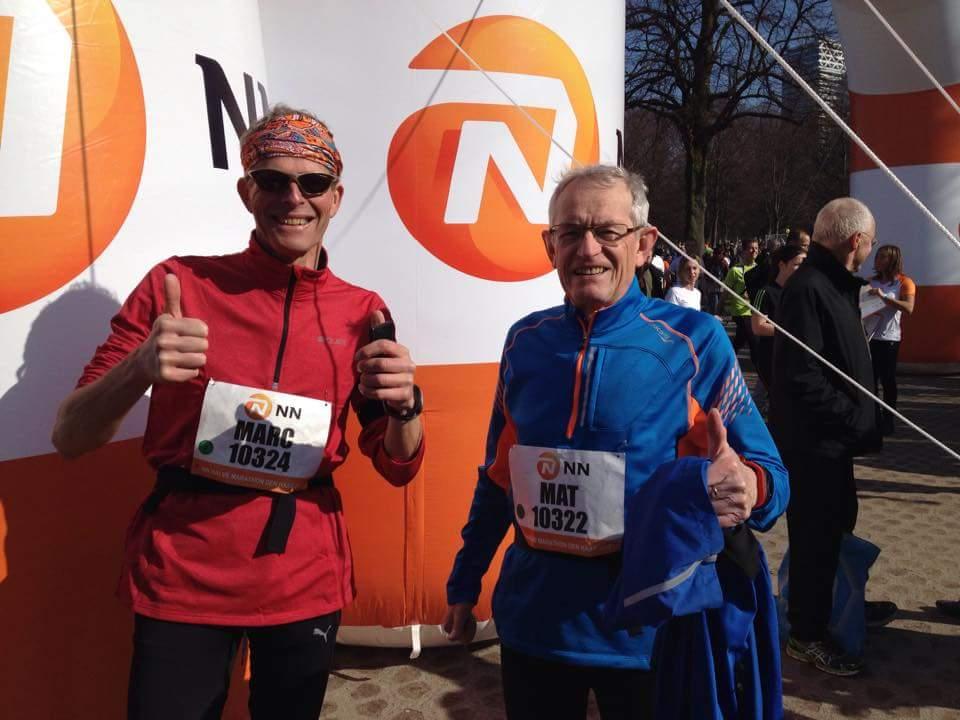 Met Mat weer de CPC halve marathon in Den Haag gelopen.