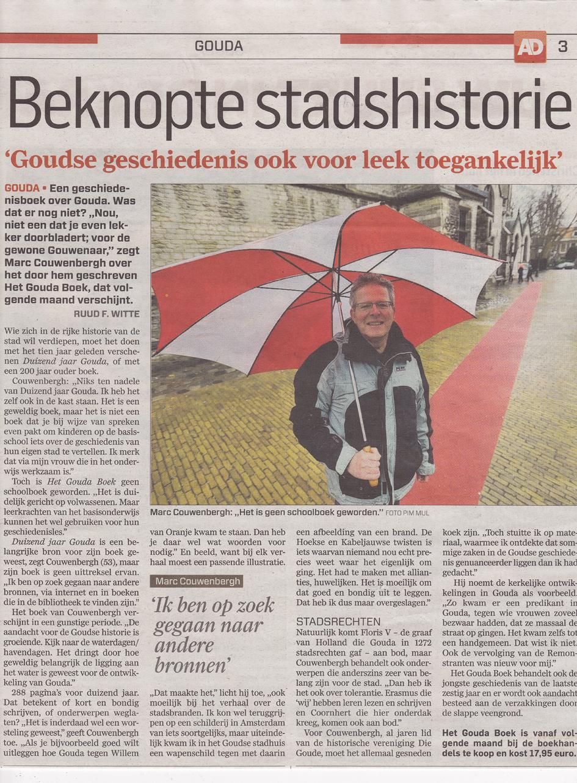 Interview met Marc Couwenbergh over Het Gouda Boek.