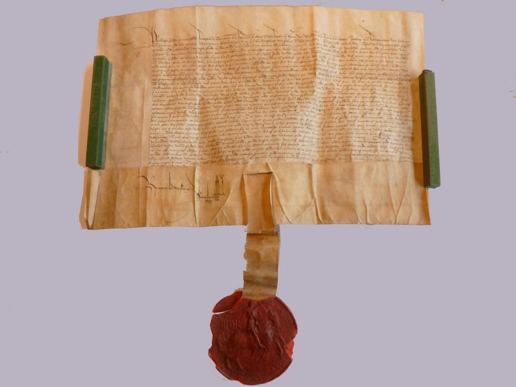 Charter Karel V uit archief Gouda
