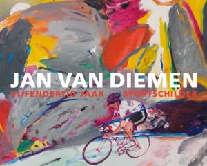 Jan van Diemen schildert al 35 jaar sporters in een expressionistische stijl.
