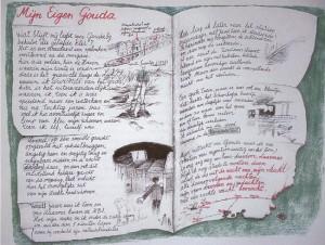 """In """"Mijn eigen Gouda' tekende en schreef herinneringen op aan zijn geboortestad."""