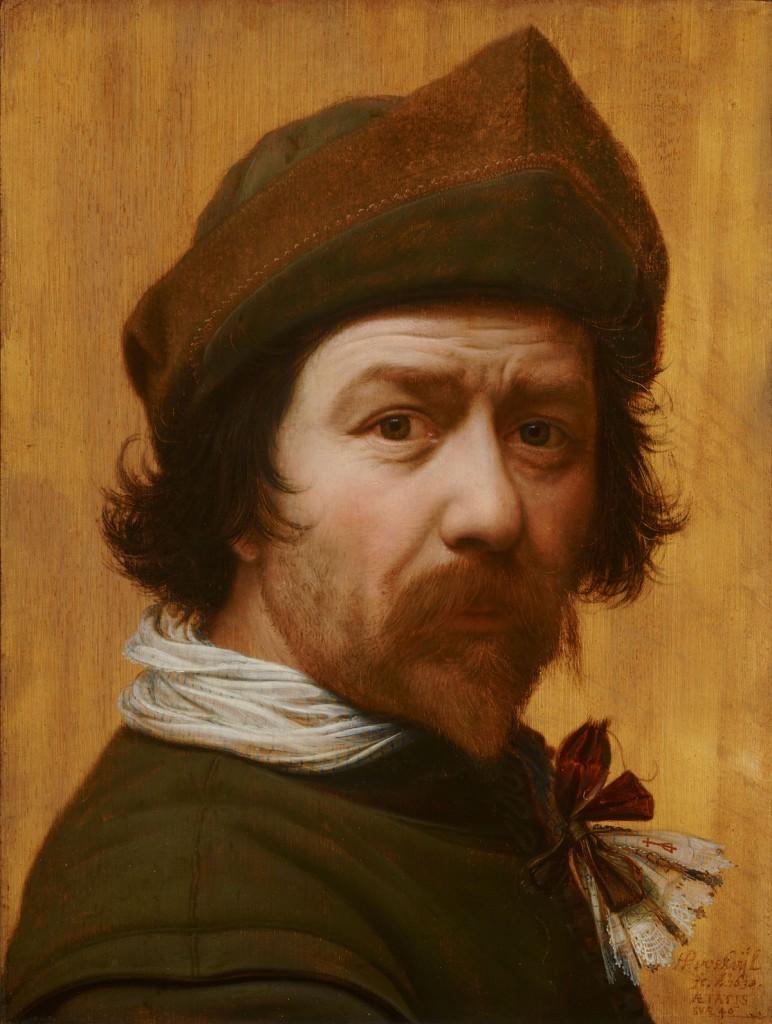 Zelfportret van Huygh Pietersz Voskuyl uit 1638; Selfies uit de Gouden Eeuw