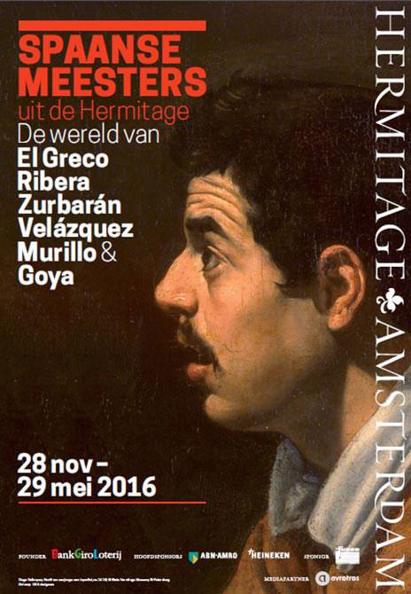 Affiche van de tentoonstelling Spaanse Meesters in de Hermitage Amsterdam. (foto Hermitage Amsterdam)