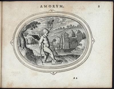 Amor houdt een bordje met een Romeinse I omhoog: perfecte liefde kan er slechts voor een zijn.