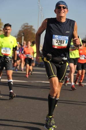 Mijn eerste marathon Amsterdam 15 oktober 2017 Marc Couwenbergh 3707, genieten van het rennen.