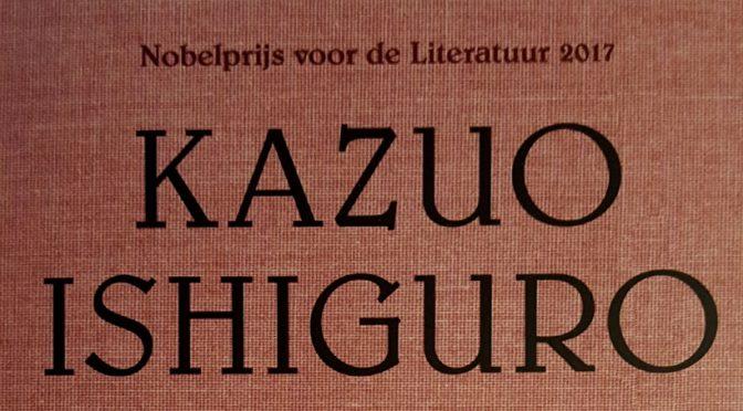 Detail van de omslag van De rest van de dag van Nobelprijswinnaar Kazuo Ishiguro, uitgegeven door Atlas Contact