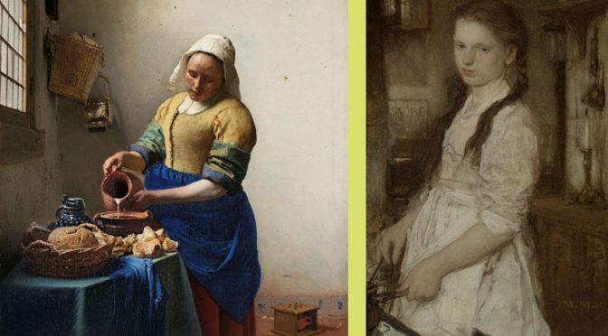 Het keukenmeisje van Maris versus Het melkmeisje van Vermeer