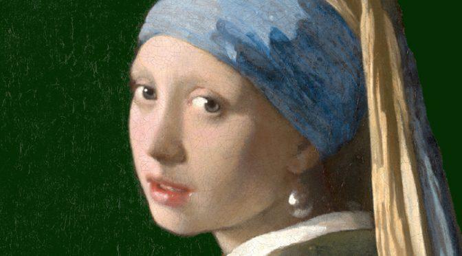De achtergrond van Het meisje met de parel was groen niet zwart. Recent onderzoek toont aan dat Johannes Vermeer blauw en geel gebruikte voor de achtergrond. Die was dus oorspronkelijk groen en niet het zwart dat we vandaag zien. Met photoshop is de achtergrond op deze afbeelding weer groen gemaakt.