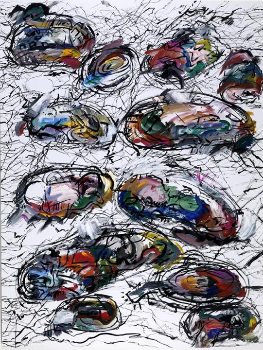 Bergwandelingen van Marjolijn van den Assem uit 1985. Museum Gouda kocht elk jaar een recent kunstwerk van haar.
